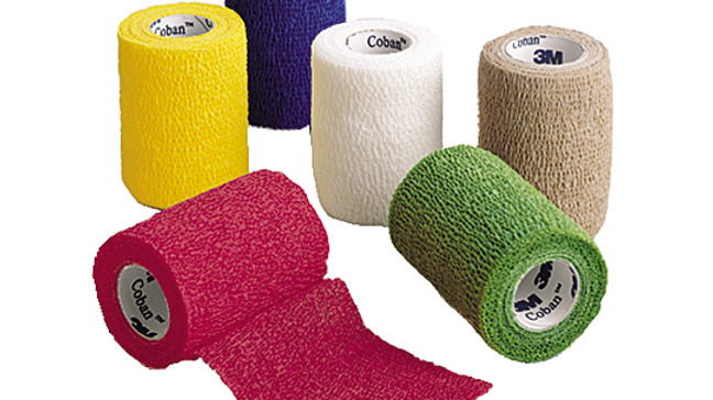 3M™ Coban™ Self-Adherent Wrap 1583A, Rainbow Pack, LS, 3 Inches x 5 Yards