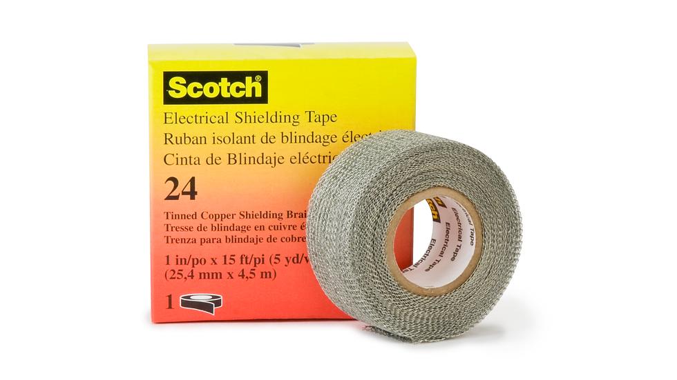 Scotch® Electrical Shielding Tape 24, 1 in x 15 ft (25 mm x 4,6 m), 50 /Case