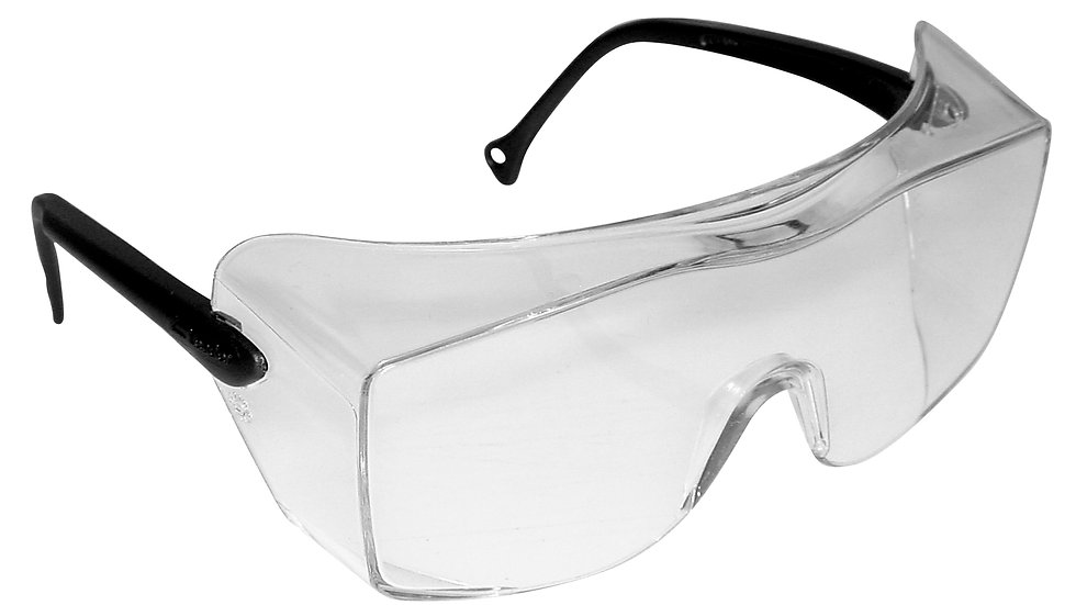 3M™ OX™ Protective Eyewear 12159-00000-20 Clear Lens, Black Temple 20