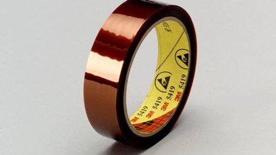 3M™ Low-Static Polyimide Film Tape 5419 Gold