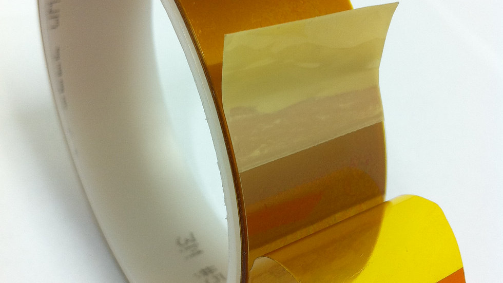 3M Linered Low-Static Polyimide Film Tp 5433 Amber 6inx36ydsx2.7mil 2/Case Bulk