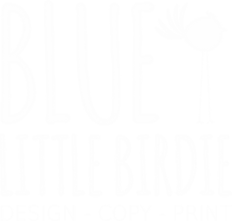 Blue little birdie design copy print blue little birdie design copy print ashby image and print graphic design printing advertising leaflets posters reheart Images
