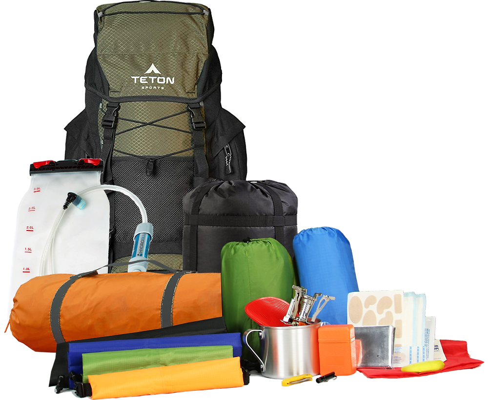 Backpack + gear = click and go! Backpacking Simplified