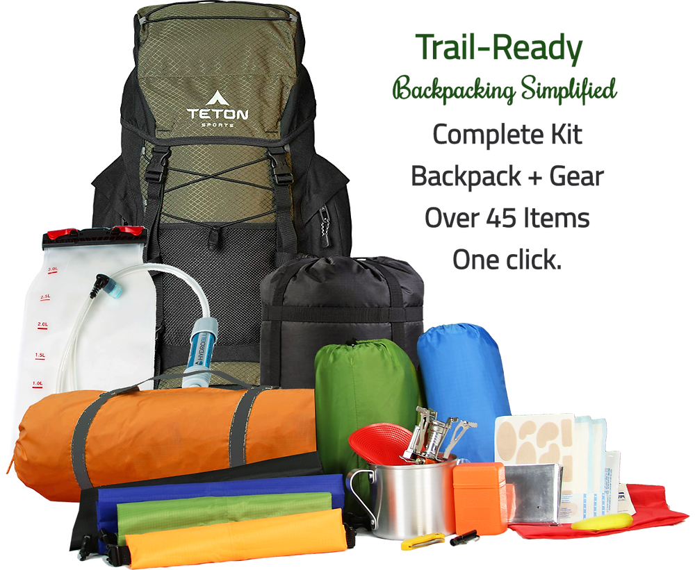 Complete Backpack Starter Kits - Everything you need to get out there and do the big hike!