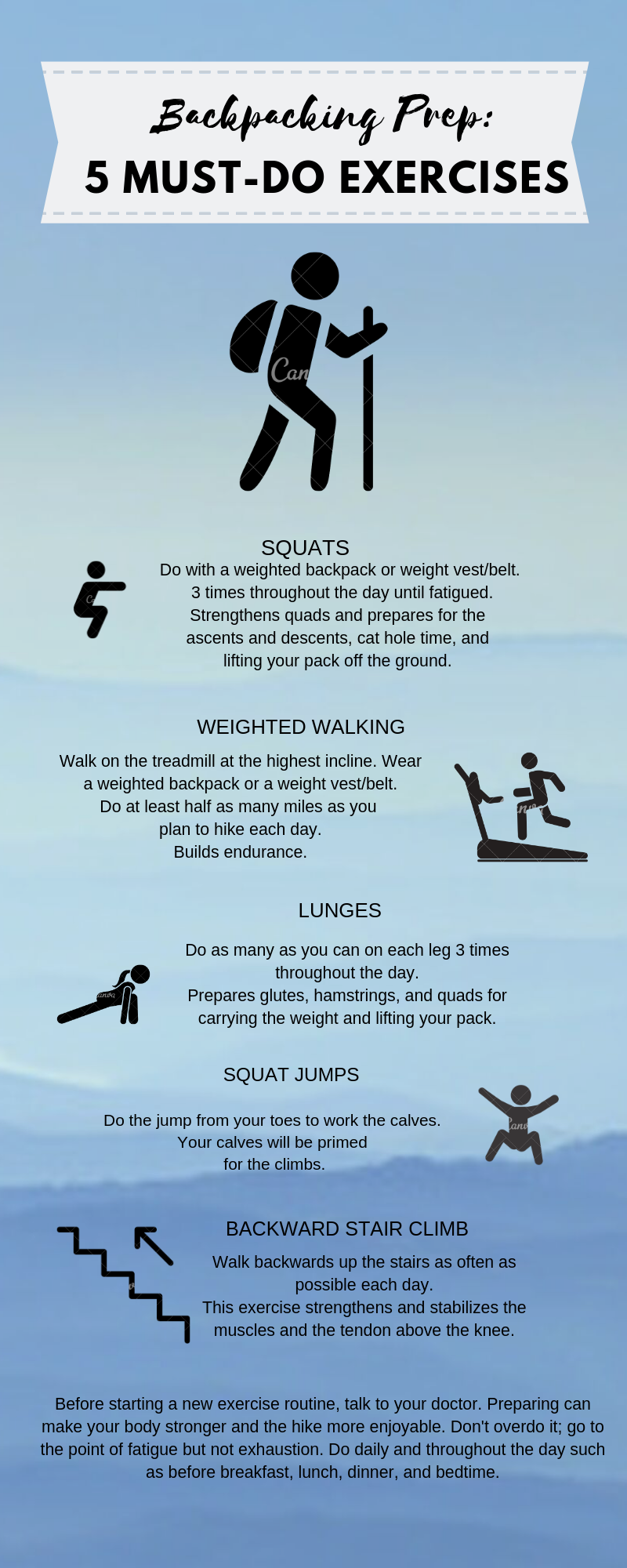 Backpacking Prep: 5 Must-do Exercises