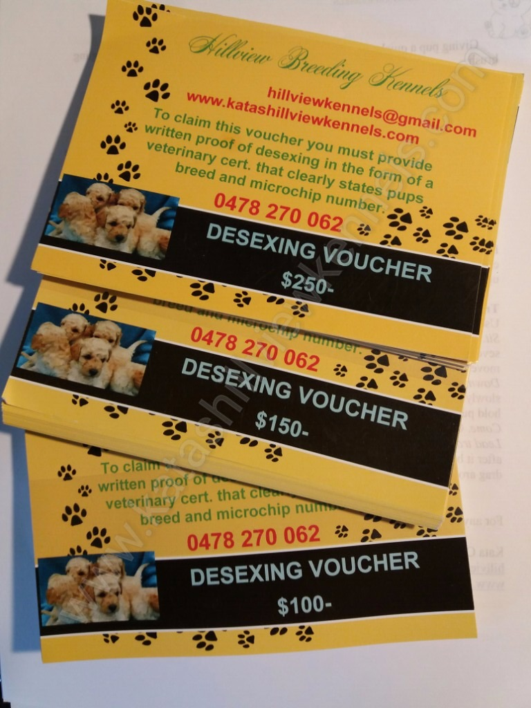 Desexing voucher