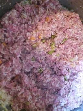 rice, veg and mince mix