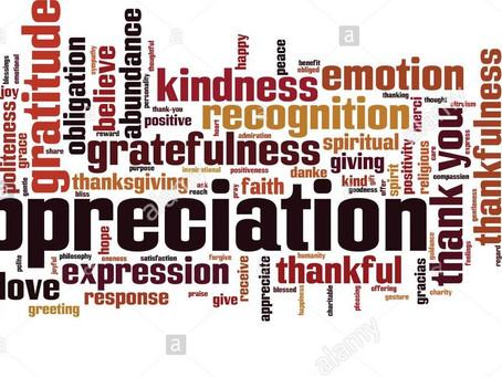 The Value of Appreciation - Part 1
