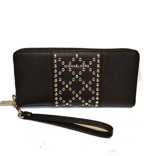 2ce599759f151c Michael Kors Authentic Money Pieces Signature Logo Studded embossed Leather  wallet clutch in BEAUTIFUL BLACK !! Brand new with retail tag attached and  care ...