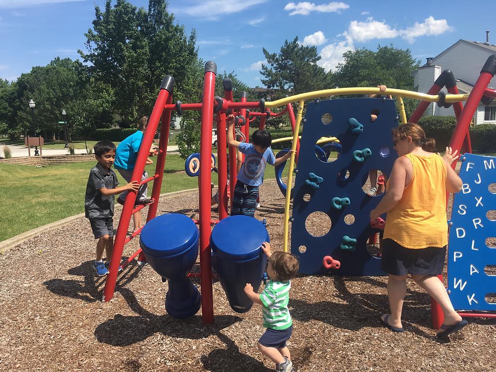 Summer camp keeps children physically active