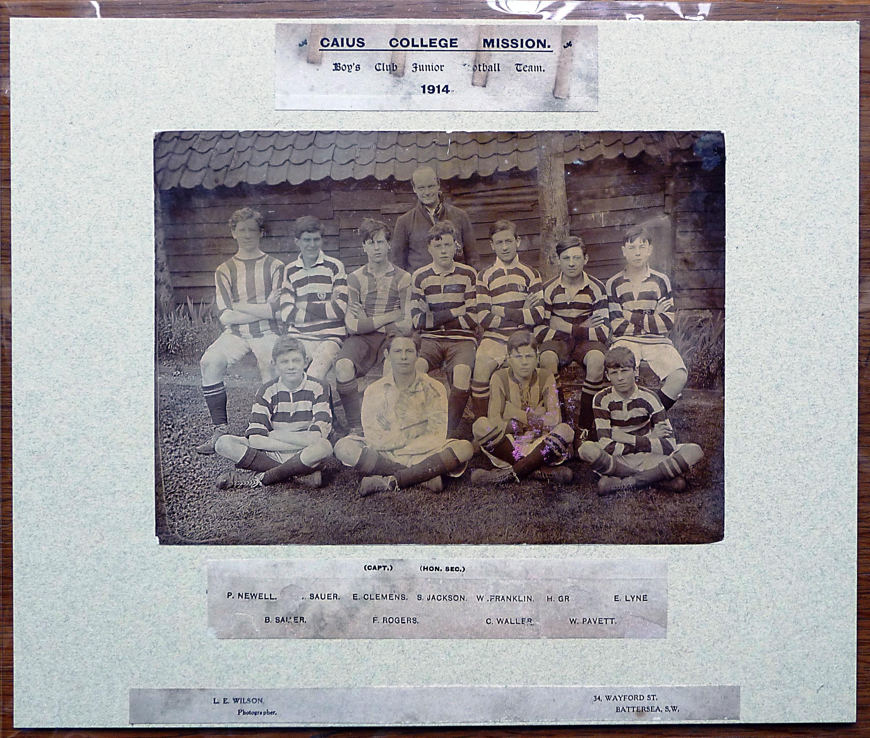 Caius Mission Football 1914
