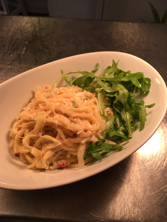Crab linguine