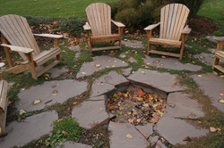 Flagstone Patio With Sunken Fire Pit By All Terra Landscape Services Of Lansing MI