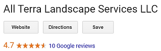 Google Review Page For All Terra Landscape Services