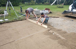 Leveling the base for a brick patio.jpg