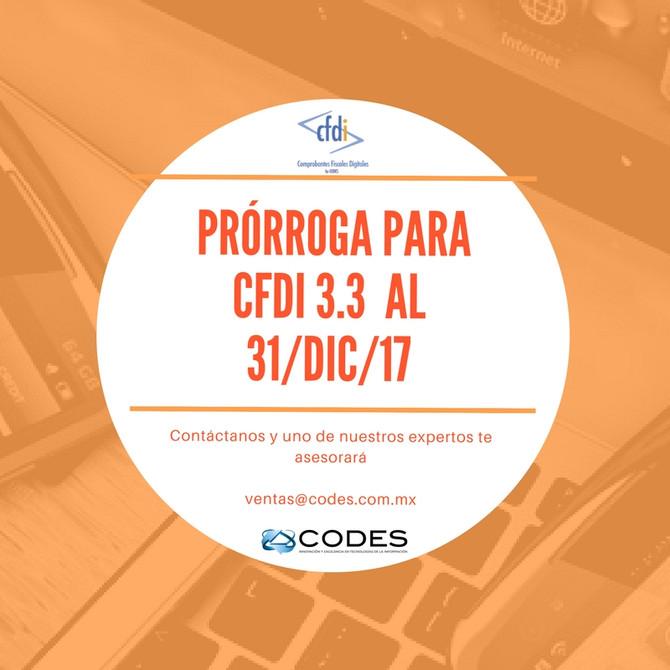 Prórroga para CFDI 3.3