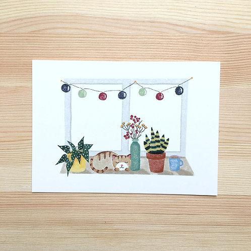 Ansichtkaart 'home sweet home' van Lesja illustraties