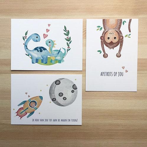 Set ansichtkaarten 'liefde' Lesja illustraties