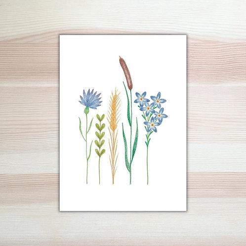 Kaart 'bloemen' van Lesja illustraties