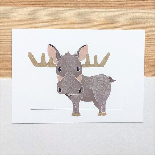 Ansichtkaart 'eland' van Lesja illustraties