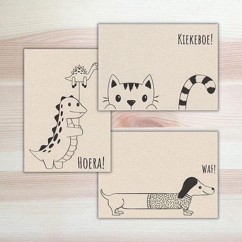 Set kaarten Lesja illustraties x Moonwalk Teddybear