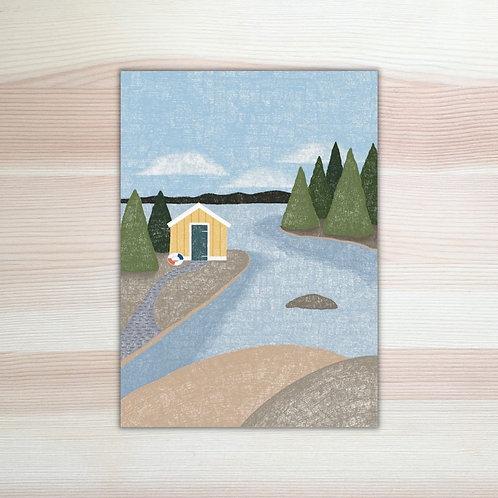Miniposter Zweeds landschap Lesja illustraties