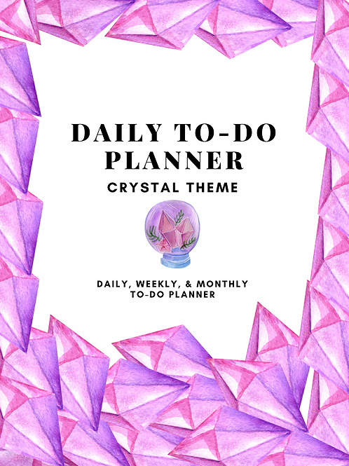 51 Page Crystal Designed Daily Planner