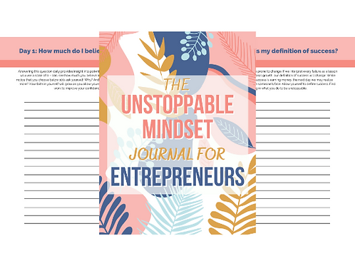 Unstoppable Mindset Business Journal