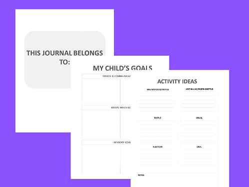 Autism planner and Journal