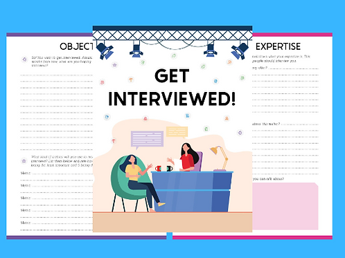 Get Interviewed planner and Workbook