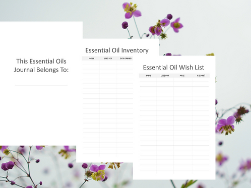 150 Page Essential Oil Planner