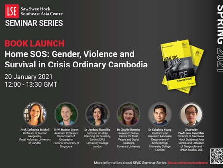 Book Launch: 'Home SOS: Gender, Violence and Survival in Crisis Ordinary Cambodia'