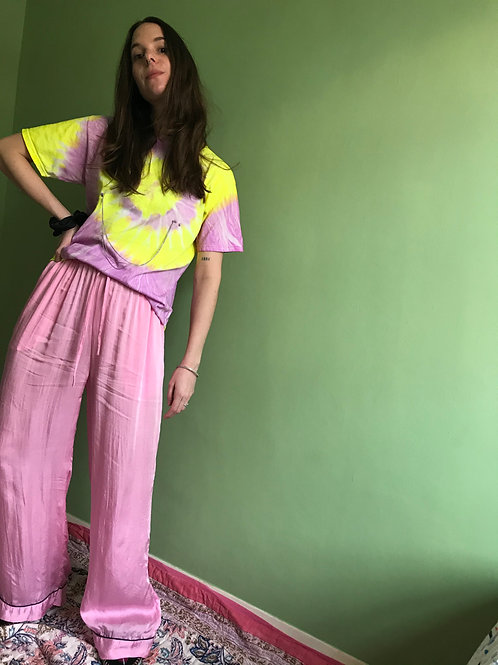 FRONT LEFT TROUSER PINK WIDE