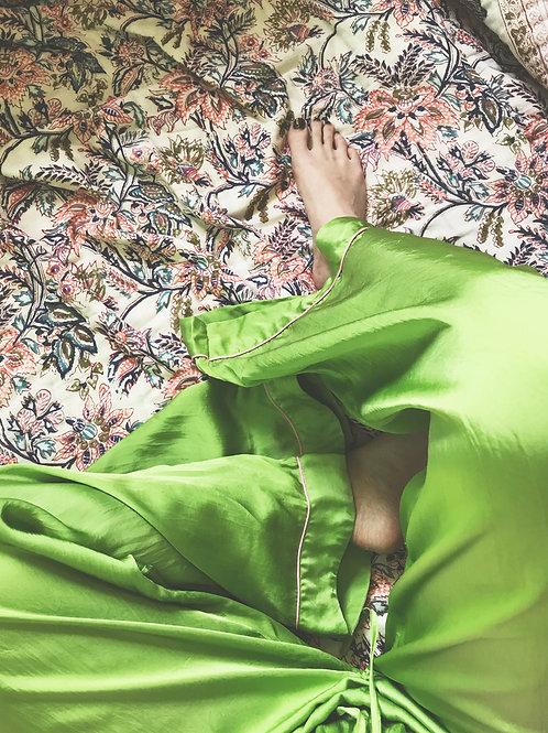GREEN WIDE LEG