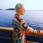 The first HAZE jacket there ever was, on holiday in Croatia with the beautiful Erika.