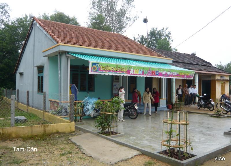 Ecole dans un village reculé