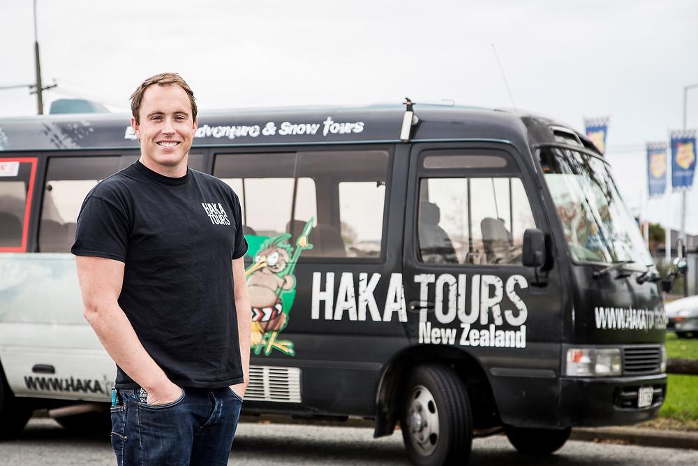 The entreprenurial Ryan Sanders, Haka Tourism Group