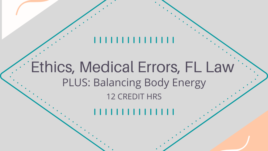 FL Mandatory Home Studies Plus Balancing Body Energy 12 CEs