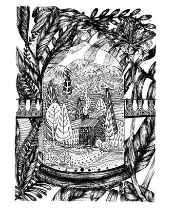 Bell jar illustration, potentially avail