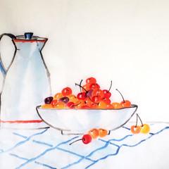 jug with orange stripe