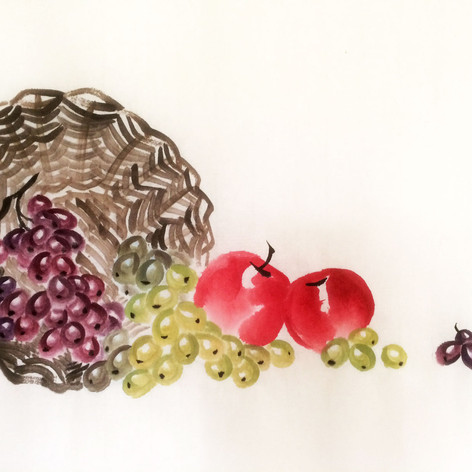 spilling grapes