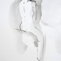 chinese ink and charcoal