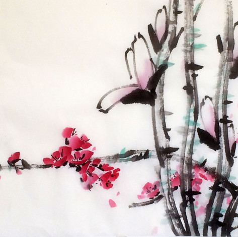 magnolia and plum