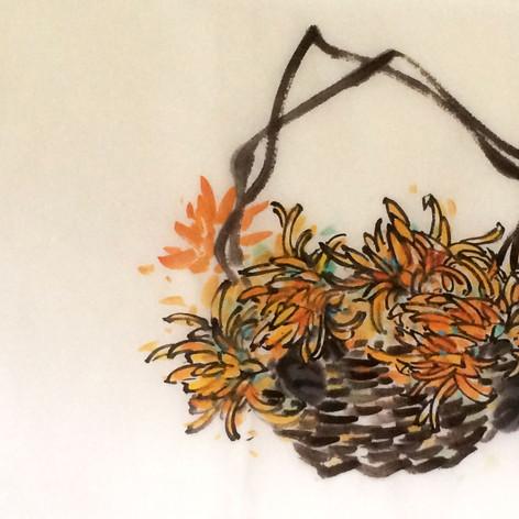 chrysanthemum basket
