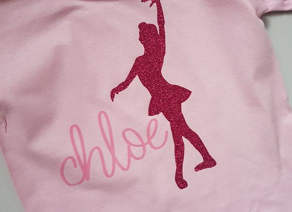 Pink Personalised Ballet Dancer T-Shirt
