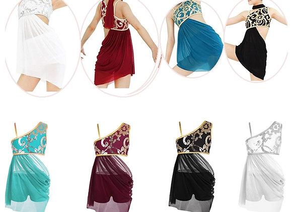 Lyrical sequin top & shorts set