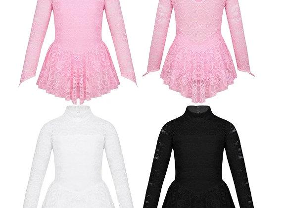 Long Sleeved Mock Neck Dance Dress