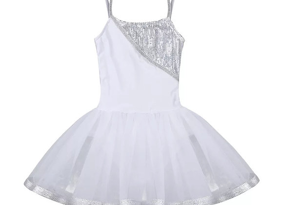 Preorder - White Sequin Tutu Dress