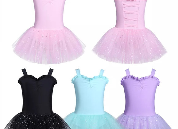 Preorder - Glitter Tutu Leotard Dress