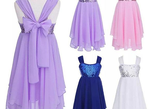 Preorder - Sequin Chiffon Lyrical Dress